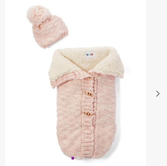 nygb Other - NYGB sherpa knit snuggle and beanie new born